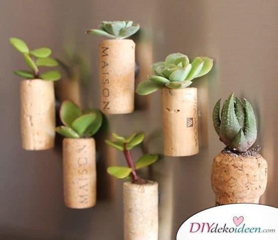 Günstige Geschenkideen - DIY Korken Minigarten