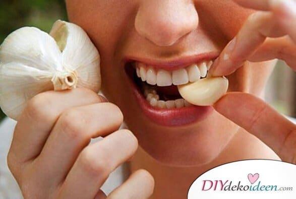 Hausmittel gegen Zahnschmerzen - Knoblauch