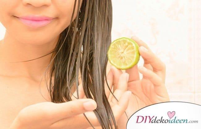 Rezepte Shampoo selber machen - Zitronen-Shampoo für glänzendes Haar