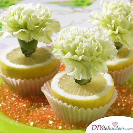 Tischdeko mit Zitronen - DIY Sommer Tischdeko