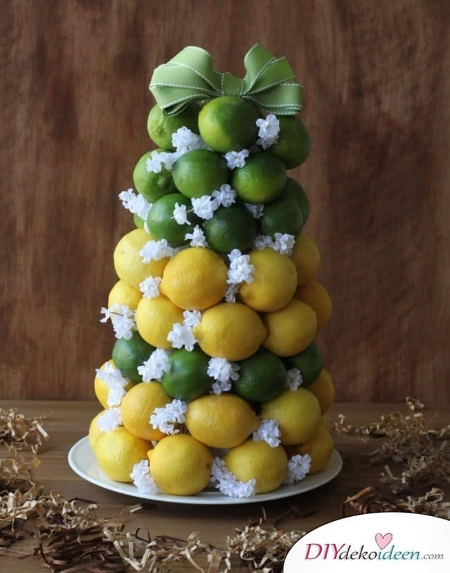 Tischdeko mit Zitronen - DIY Tischschmuck