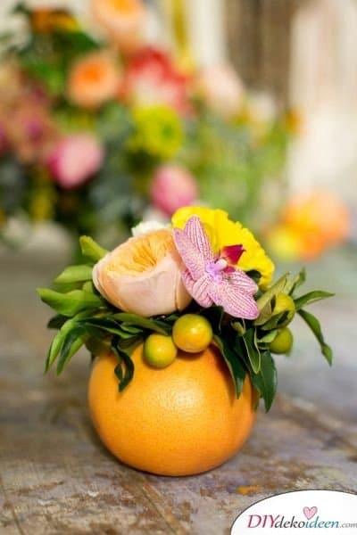 Tischdeko mit Zitronen - DIY Tischschmuck für Partys
