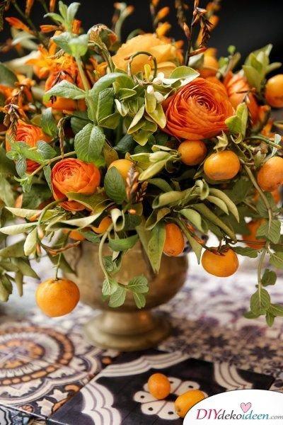 Tischdeko mit Zitronen - DIY Deko Trends 2017