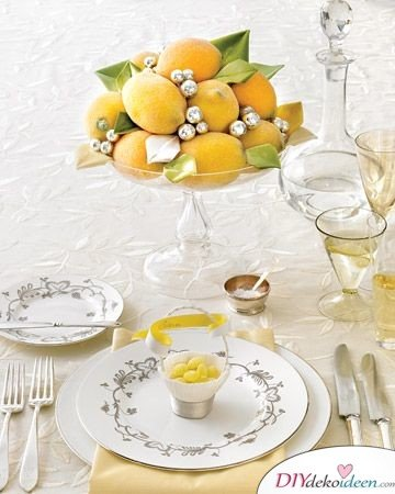 Tischdeko mit Zitronen - DIY Deko Trends Hochzeiten