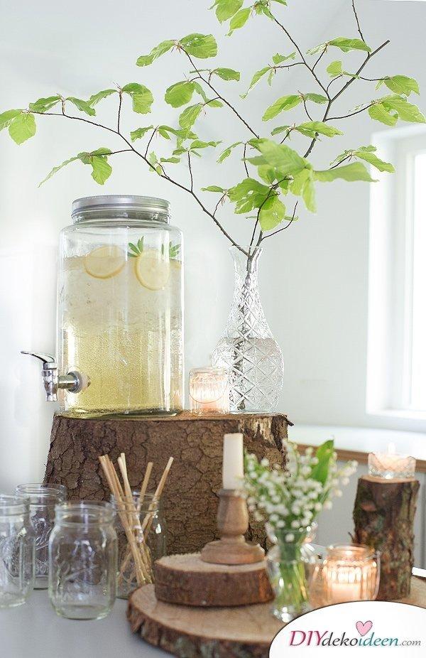 Tischdeko mit Zitronen - DIY Tischdeko Ideen
