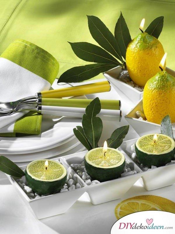 Tischdeko mit Zitronen - DIY Sommer Ideen