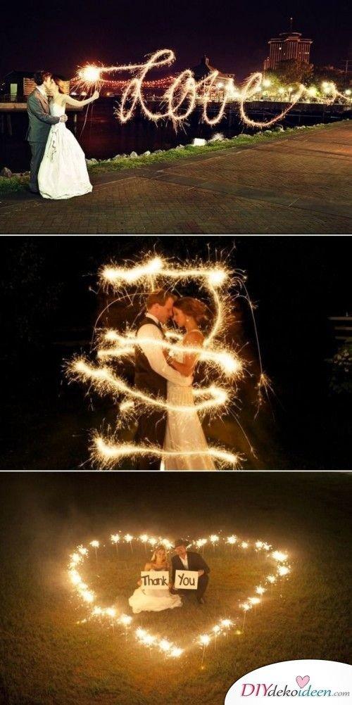 Wunderkerzen zur Hochzeit - romantische Hochzeit