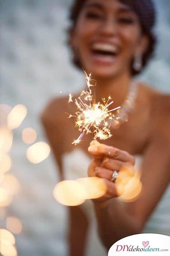 Wunderkerzen zur Hochzeit - schöne Hochzeitsfotos