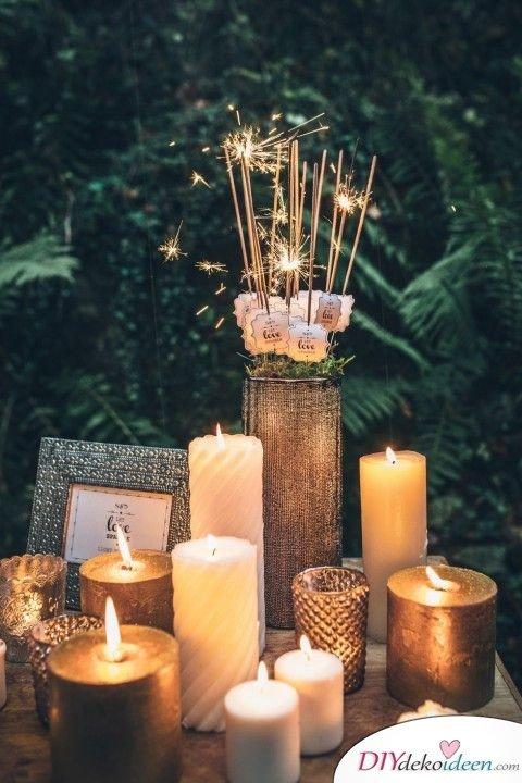 Wunderkerzen zur Hochzeit - Hochzeitsdeko
