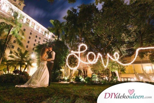 Wunderkerzen zur Hochzeit - Liebe Hochzeit