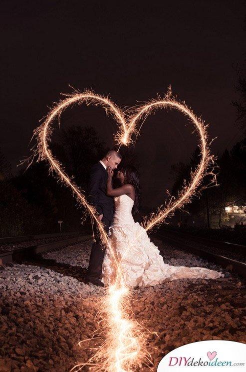 Wunderkerzen zur Hochzeit - Hochzeitsbild Ideen - Hochzeitsplanung