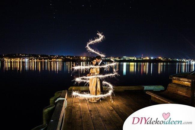 Wunderkerzen zur Hochzeit - Bilder fürs Hochzeitsalbum
