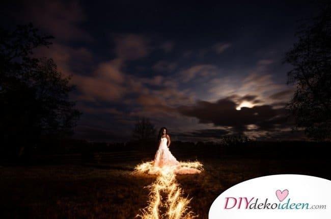 Wunderkerzen zur Hochzeit - Hochzeitsalbum Bilderideen