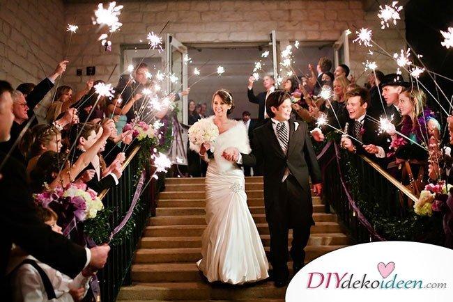 Wunderkerzen zur Hochzeit - Hochzeits Bilderideen