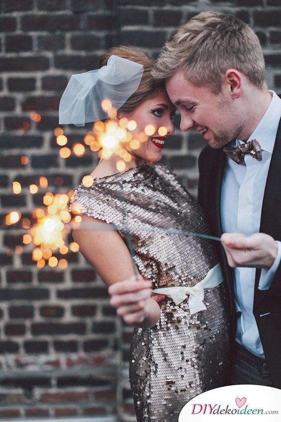 Wunderkerzen zur Hochzeit - Hochzeitsbilder Ideen