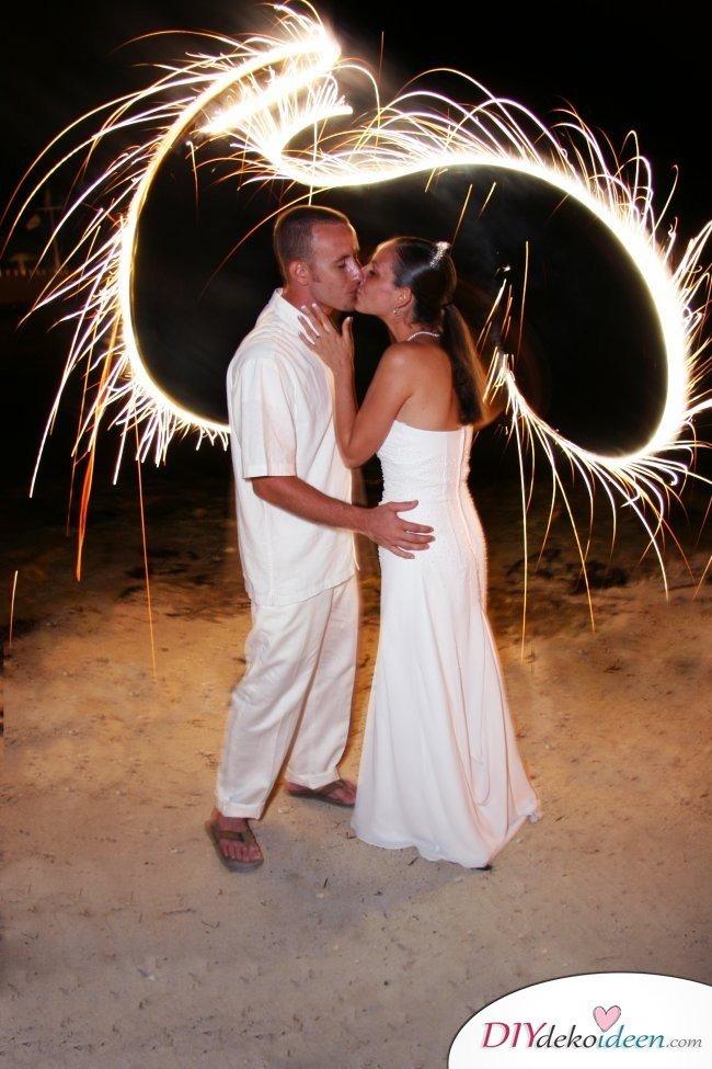 Wunderkerzen zur Hochzeit - Hochzeitsfoto Ideen