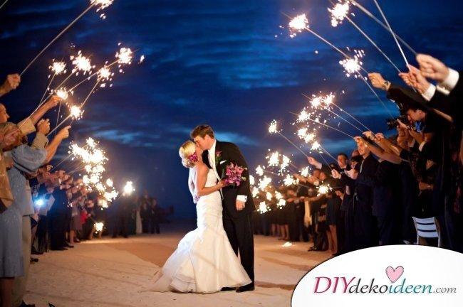 Wunderkerzen zur Hochzeit - Bilderideen für Hochzeitsalbum