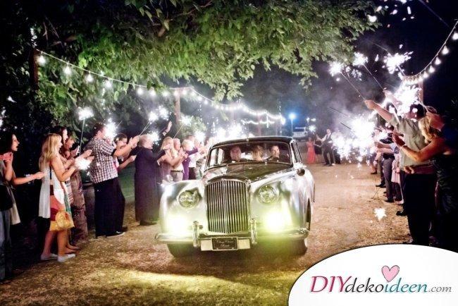 Wunderkerzen zur Hochzeit - tollea Hochzeitsbilder