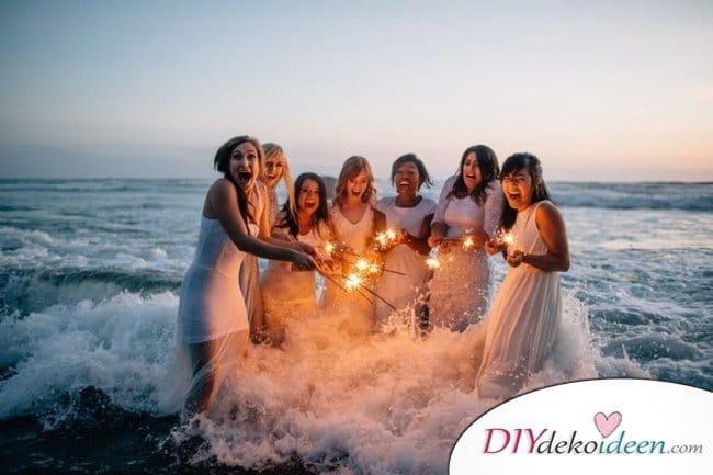 Wunderkerzen zur Hochzeit - Braut Hochzeitsbilder