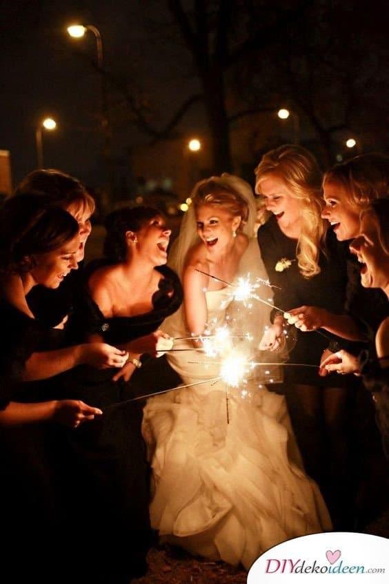 Wunderkerzen zur Hochzeit - schöne Hochzeitsbilder
