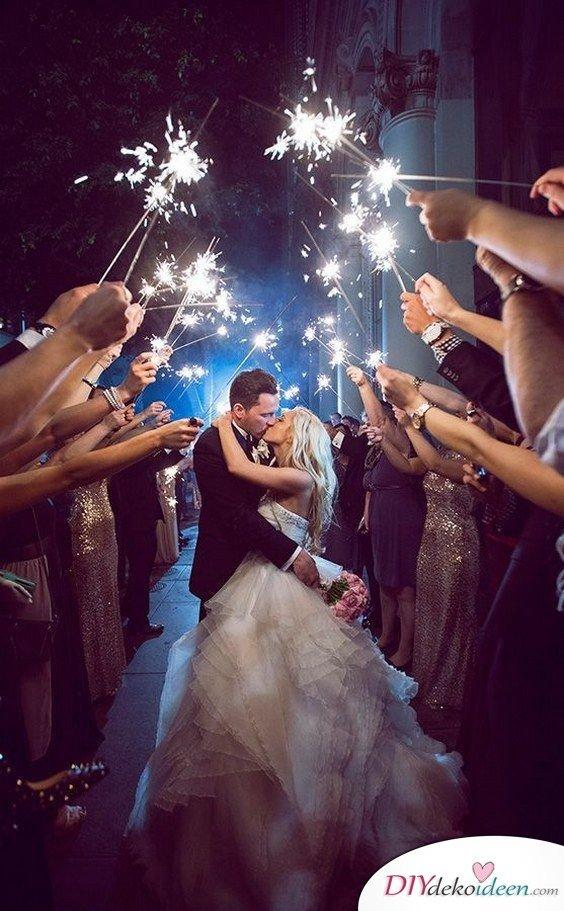 Wunderkerzen zur Hochzeit - einmalige Hochzeitsbilder
