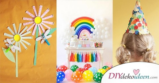DIY Bastelideen, Deko, Spiele und Snacks für die nächste Kinderparty.