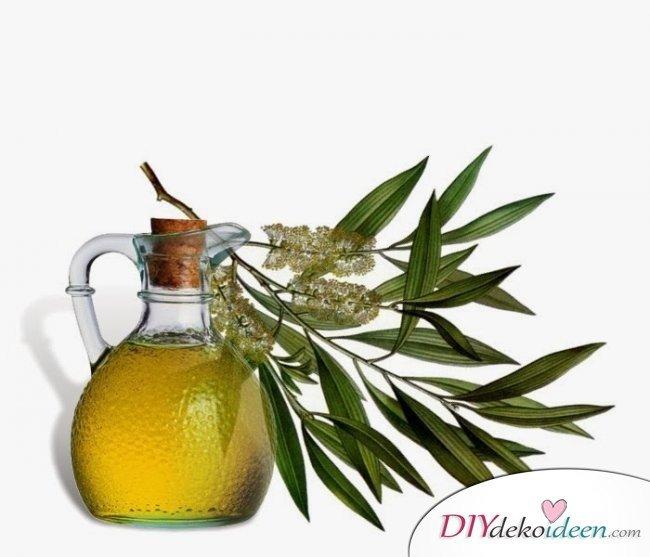10 Hausmittel gegen Pickel - Teebaumöl