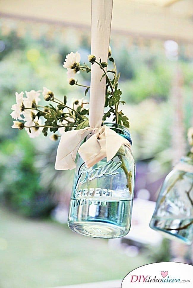 20 + DIY Bastelideen zur Hochzeit - DIY Fotohintergrund Einmachglas