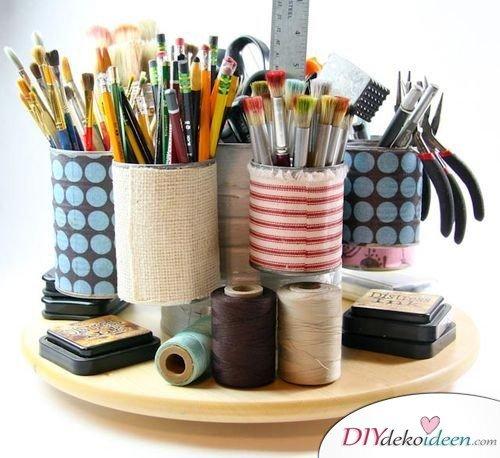 15+ DIY Bürodeko Ideen - DIY Stiftehalter