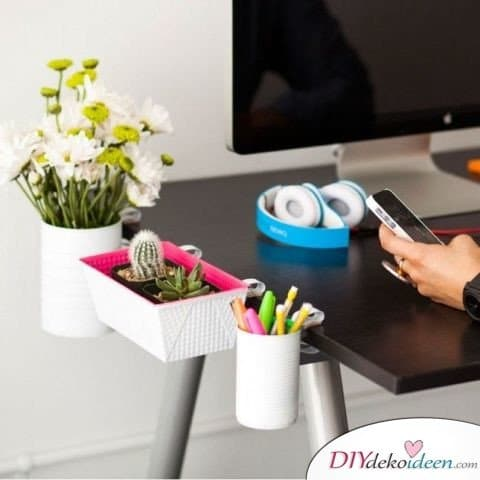 15+ DIY Bürodeko Ideen - Büro organisieren