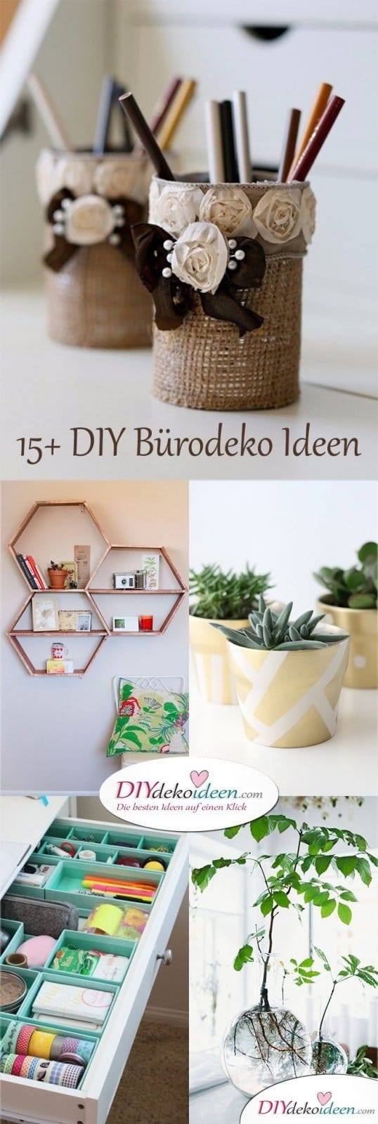 15+ DIY Bürodeko Ideen