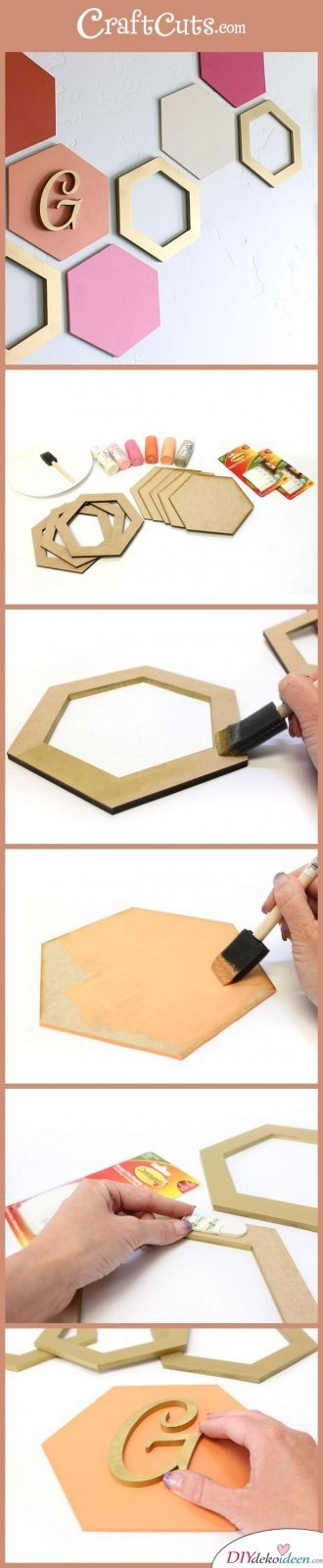 15+ DIY Bürodeko Ideen - DIY Wandschmuck