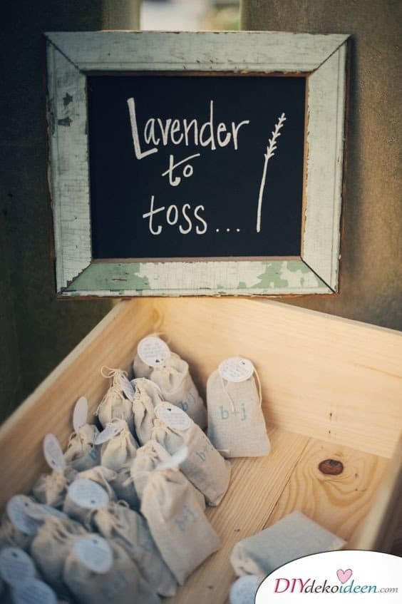 20 + DIY Bastelideen zur Hochzeit - DIY Lavendel Konfetti