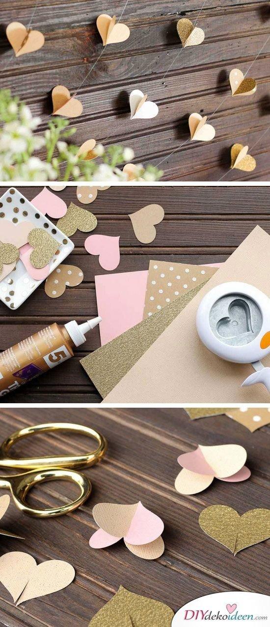 20 + DIY Bastelideen zur Hochzeit - Herzchen Fotohintergrund