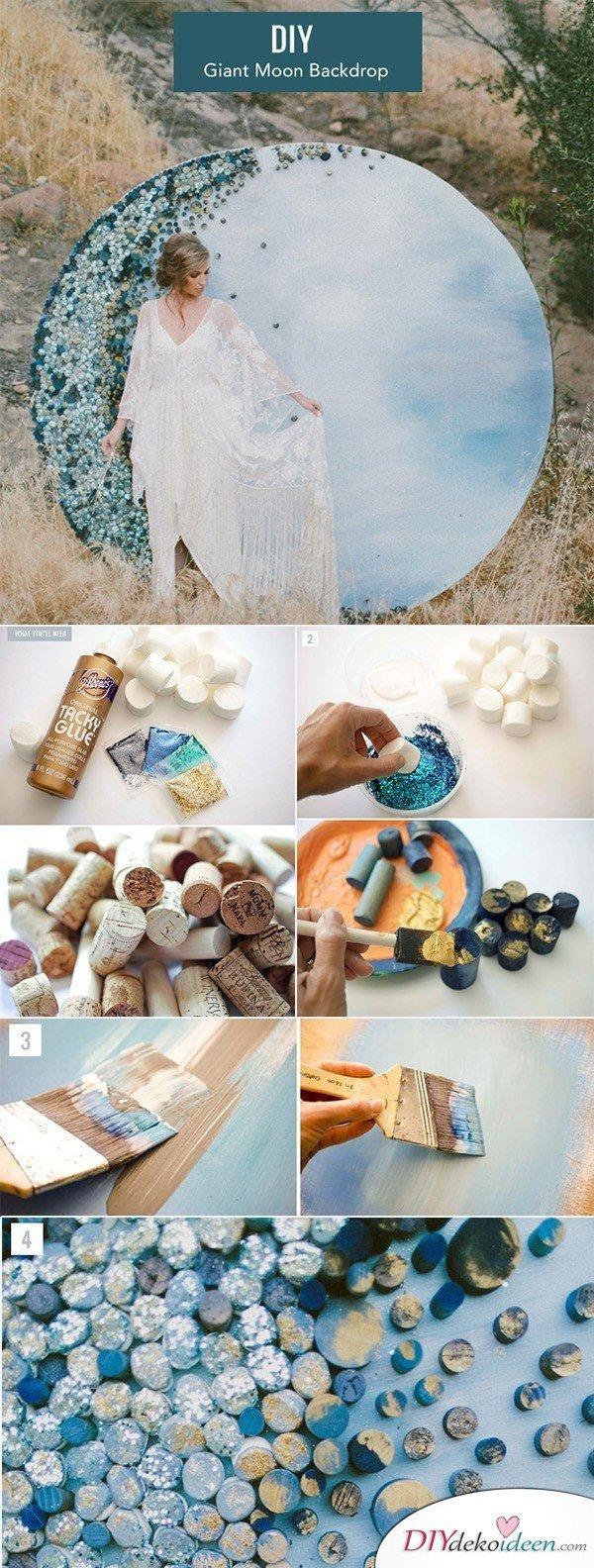 20 + DIY Bastelideen zur Hochzeit - DIY Fotohintergrund - Hochzeitsbilder
