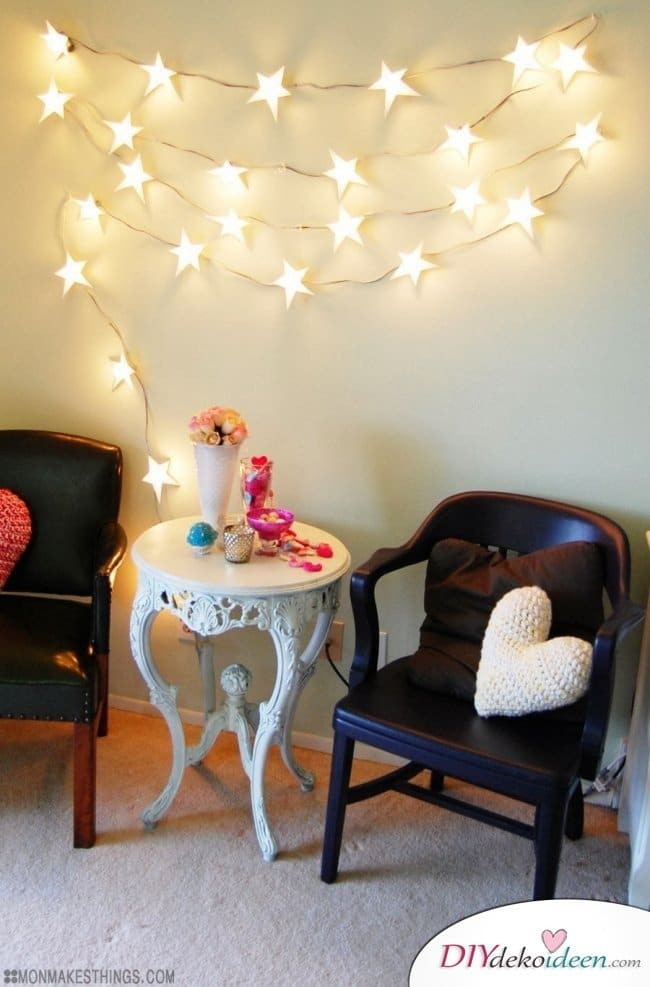 15 Bastelideen DIY Lampen selber machen - DIY Sternengirlande