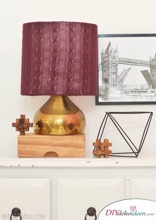 15 Bastelideen DIY Lampen selber machen - DIY Lampenschirm aus Strumpfhosen selber machen