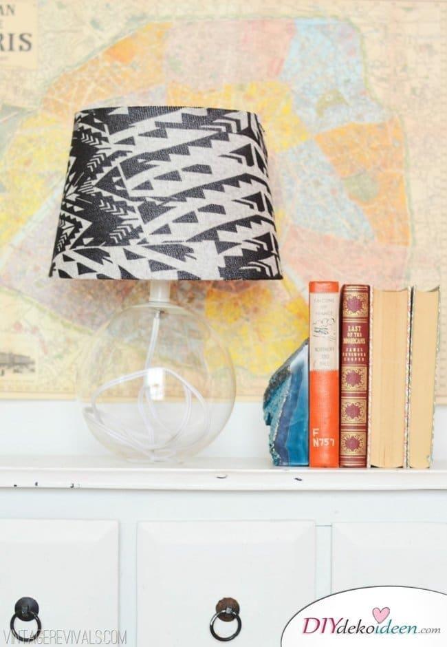 15 Bastelideen DIY Lampen selber machen - DIY Lampenschirm aus Strumpfhosen