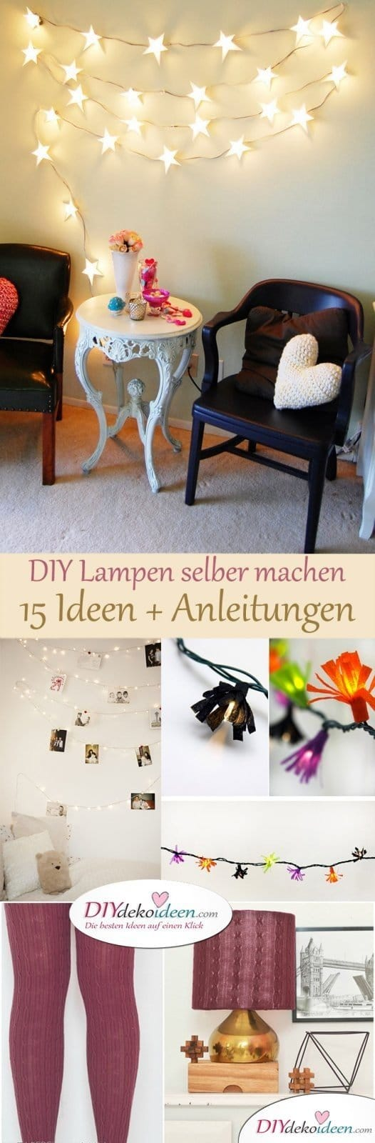 diy lampen selber machen - die schönsten bastelideen für dein zimmer, Wohnzimmer dekoo