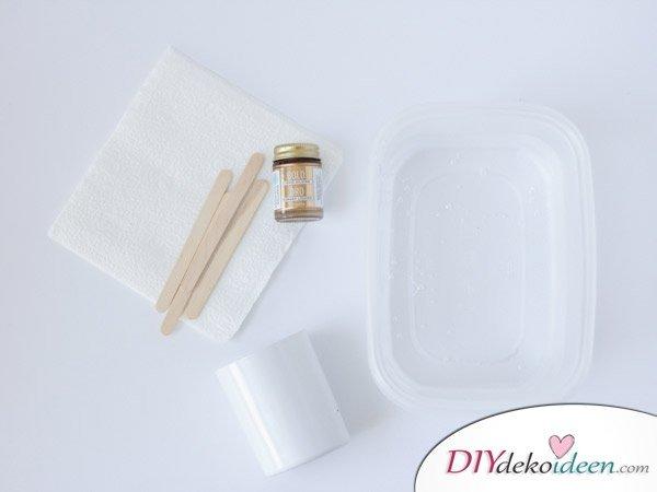 DIY Schulsachen selber basteln - Stiftehalter mit Marmormuster - Anleitung