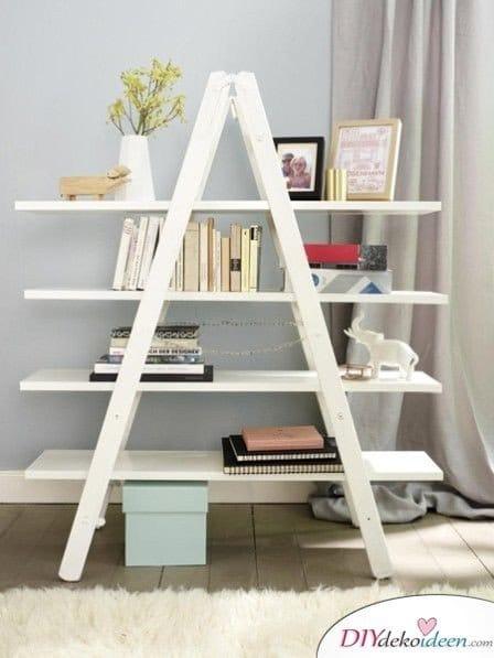 Dekoration für kleine Zimmer - 20 platzsparende Dekoideen - DIY Bücherregal