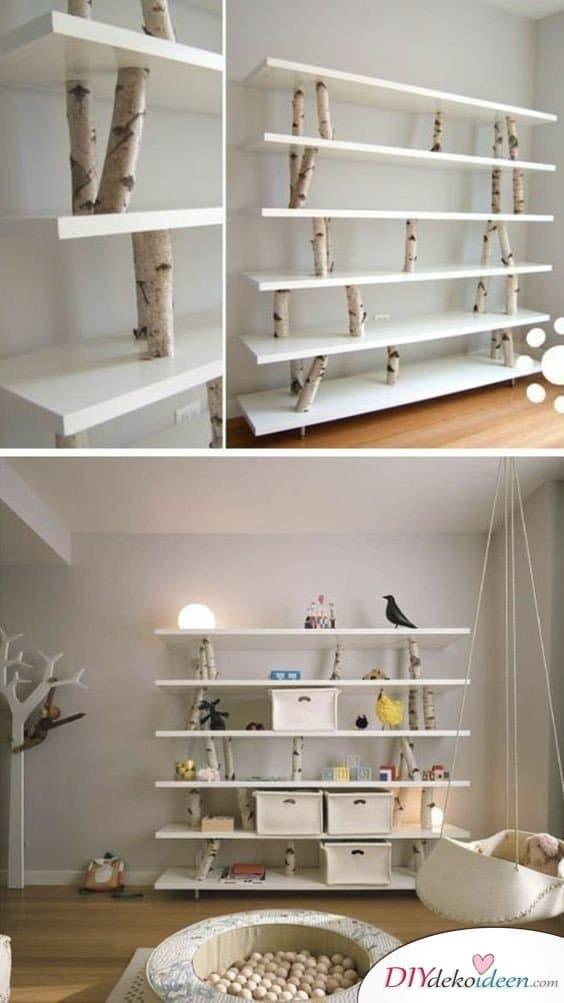 Dekoration für kleine Zimmer - 20 platzsparende Dekoideen - DIY Regal Ideen