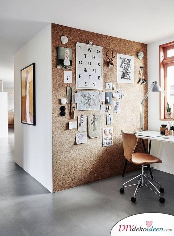 Dekoration für kleine Zimmer - 20 platzsparende Dekoideen - DIY Pinwand