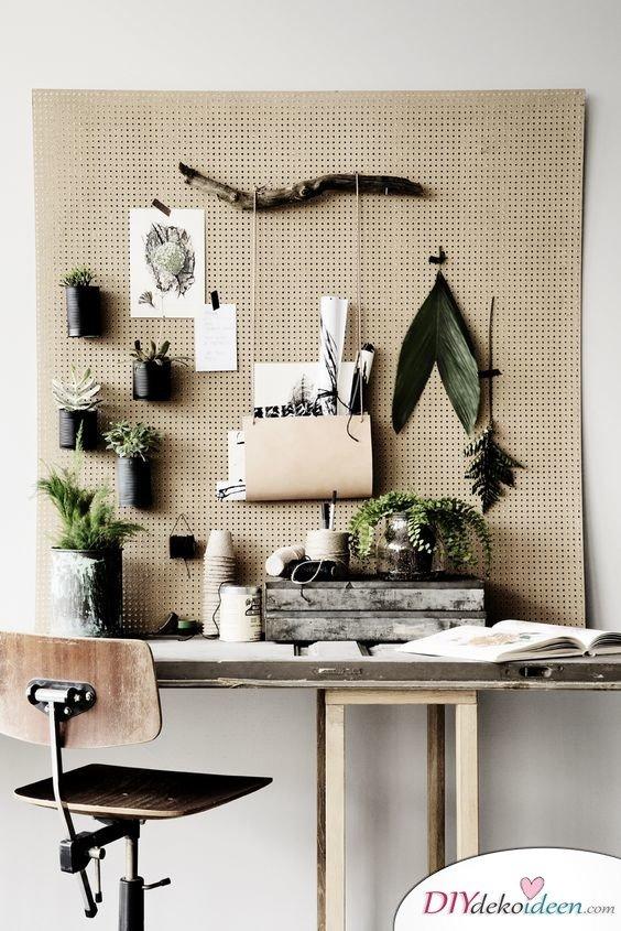 Dekoration für kleine Zimmer - 20 platzsparende Dekoideen - DIY Pinwand Idee