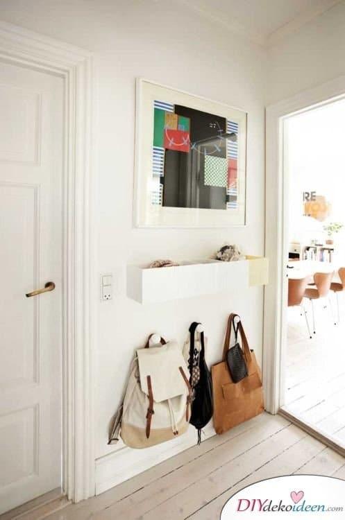 Dekoration für kleine Zimmer - 20 platzsparende Dekoideen - DIY Flur Deko