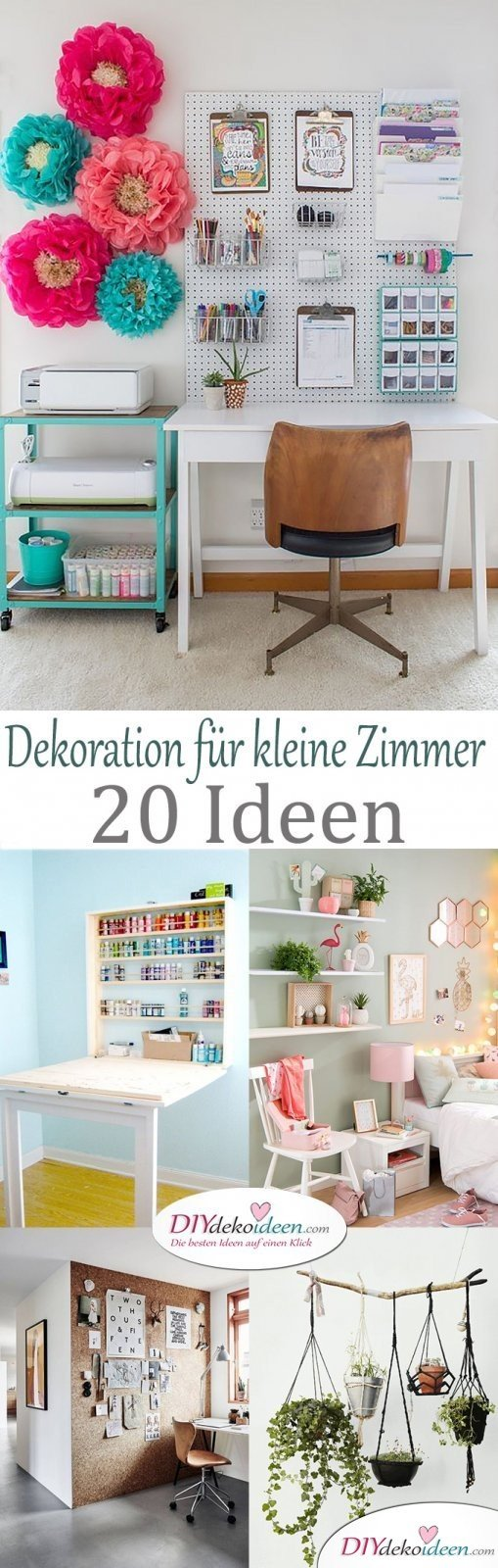 dekoration f r kleine zimmer 20 platzsparende dekoideen. Black Bedroom Furniture Sets. Home Design Ideas