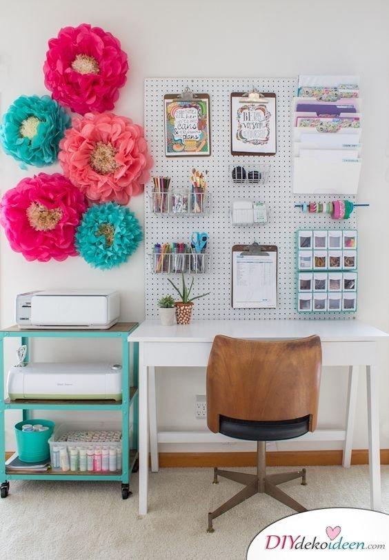 Dekoration für kleine Zimmer - 20 platzsparende Dekoideen - DIY Pinwand magnetisch