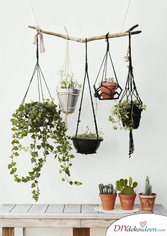 Dekoration für kleine Zimmer - 20 platzsparende Dekoideen - DIY Blumenampel