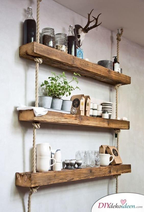 Dekoration für kleine Zimmer - 20 platzsparende Dekoideen - DIY Küchenregal