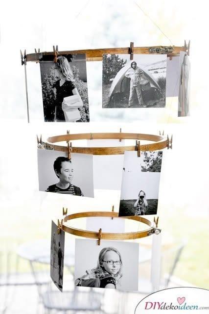 30+ Fotowände und Fotocollagen Ideen - Fotos aufhängen